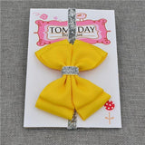 Elastic Bowtie Headband Kids Accessories Bright yellow / Unique size - Serene Parents