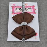 Elastic Bowtie Headband Kids Accessories Brown / Unique size - Serene Parents