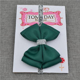 Elastic Bowtie Headband Kids Accessories Dark green / Unique size - Serene Parents