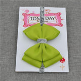 Elastic Bowtie Headband Kids Accessories Green / Unique size - Serene Parents