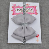 Elastic Bowtie Headband Kids Accessories Grey / Unique size - Serene Parents