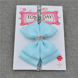 Elastic Bowtie Headband Kids Accessories Light blue / Unique size - Serene Parents