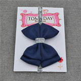 Elastic Bowtie Headband Kids Accessories Navy blue / Unique size - Serene Parents