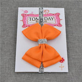 Elastic Bowtie Headband Kids Accessories Orange / Unique size - Serene Parents