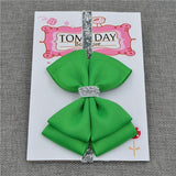 Elastic Bowtie Headband Kids Accessories Vivid green / Unique size - Serene Parents