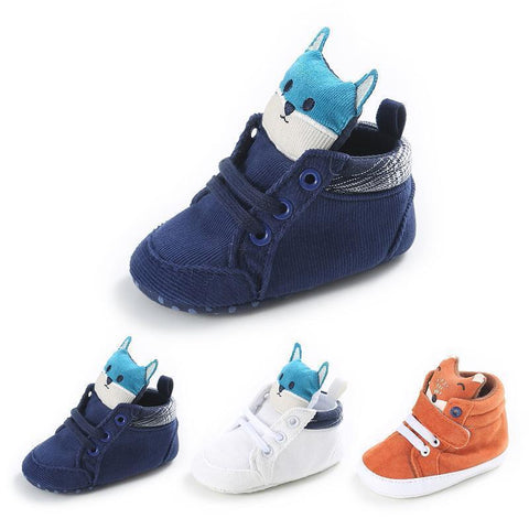 "FOXY - Fox Baby Shoes Baby Shoes Blue (almost sold out) / S (4.3"" - 11 cm) - Serene Parents"