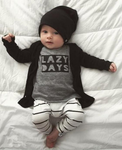 LAZY DAYS - Pajama 2 Pajamas - Combination - Kids Clothing 3M - Serene Parents