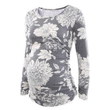 Maternity Tunic Top for Pregnant Women Maternity Tunic Top for Pregnant Women Floral (Gray) / S - Serene Parents