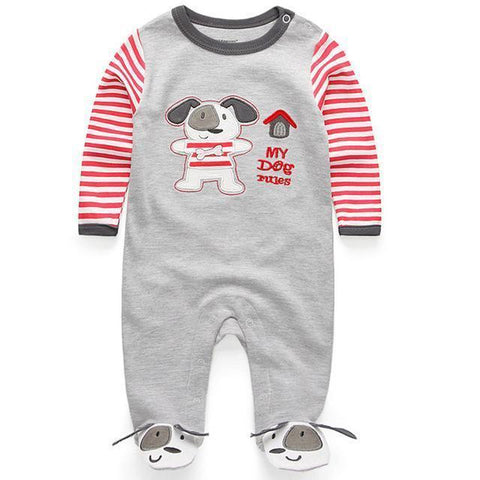 One Piece Jumpsuit Pajama Puppy Pajamas - Combination - Kids Clothing 12M - Serene Parents