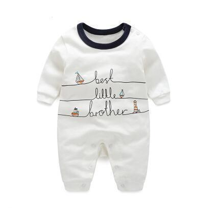 One Piece Jumpsuit Pajamas Best Little Brother Pajamas - Combination - Kids Clothing 3M - Serene Parents
