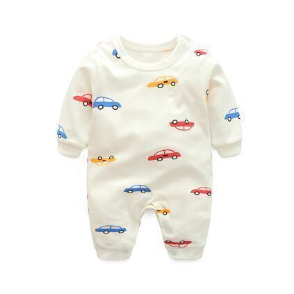 One Piece Jumpsuit Pajamas Car Pajamas - Combination - Kids Clothing 3M - Serene Parents