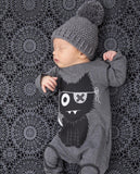 One Piece Jumpsuit Pajamas Cartoon Cat Pajamas - Combination - Kids Clothing 0 - 3 months - Serene Parents