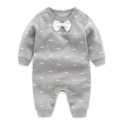 One Piece Jumpsuit Pajamas Dandy Gray Pajamas - Combination - Kids Clothing 3M - Serene Parents