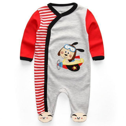 One Piece Jumpsuit Pajamas Driver Pajamas - Combination - Kids Clothing 12M - Serene Parents