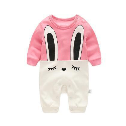 One Piece Jumpsuit Pajamas Pink Bunny Pajamas - Combination - Kids Clothing 3M - Serene Parents