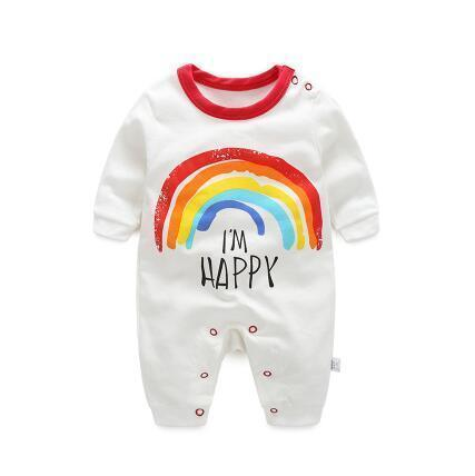 One Piece Jumpsuit Pajamas Rainbow Pajamas - Combination - Kids Clothing 3M - Serene Parents