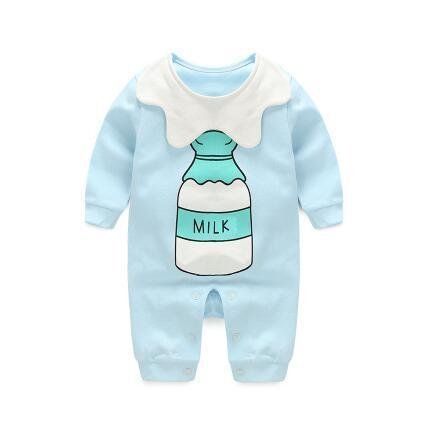Pajama Milk One Piece Jumpsuit Pajamas - Combination - Kids Clothing 3M - Serene Parents