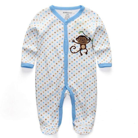 Pajama Monkey Suit Pajamas - Combination - Kids Clothing 12M - Serene Parents