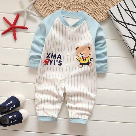 Pajama One Piece Jumpsuit Reasons To Cotton - Blue Baseball Pajamas - Combination - Kids Clothing Baseball / 3M - Serene Parents