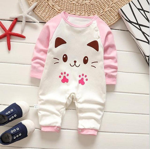 Pajama One Piece Jumpsuit Reasons To Cotton - Kitten Pajamas - Combination - Kids Clothing Kitten / 3M - Serene Parents