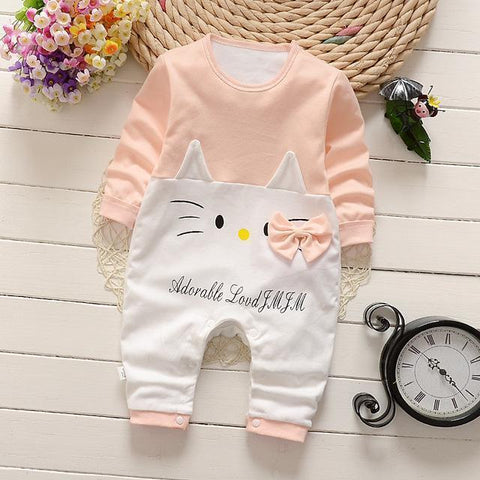 Pajama One Piece Jumpsuit Reasons To Cotton - Kitty Fishing Pajamas - Combination - Kids Clothing Kitty Fishing / 3M - Serene Parents