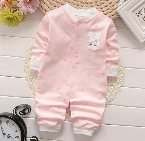 Pajama One Piece Jumpsuit Reasons To Cotton - Pink Bunny Pajamas - Combination - Kids Clothing Pink rabbit / 3M - Serene Parents