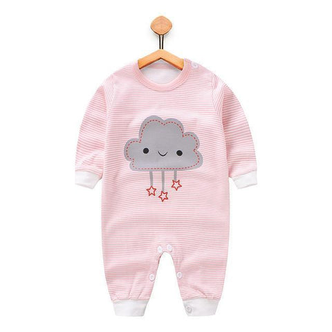 Pajama One Piece Jumpsuit Reasons To Cotton - Starred Cloud Pajamas - Combination - Kids Clothing cloud Starred / 3M - Serene Parents
