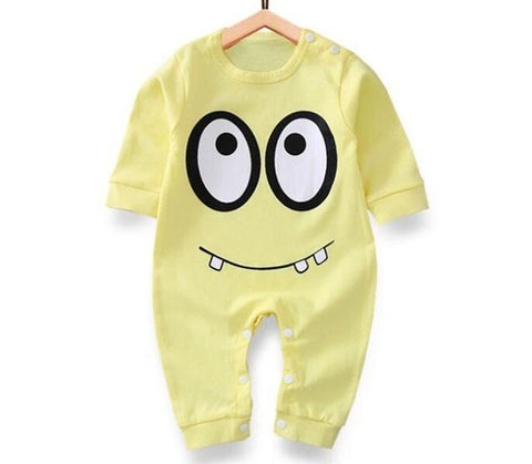Pajama One Piece Jumpsuit Reasons To Cotton - Yellow Monster Pajamas - Combination - Kids Clothing Yellow monster / 3M - Serene Parents