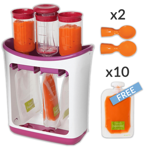 POUCH'EAT - Conditioning Station and Baby Food Maker Conditioning Station and Baby Food Maker Standard - SOLD OUT / + 10 Pouches (Free) - Serene Parents