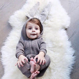 Rabbit Buby One Piece Jumpsuit Pajamas - Combination - Kids Clothing GREY / 0 to 3 months - Serene Parents