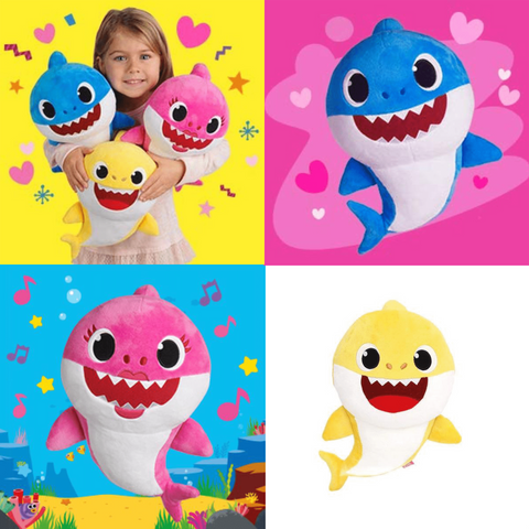 Sharky - Singing Shark Plush (New - 2019) Shark Plush Blue - Few Items Left - Serene Parents