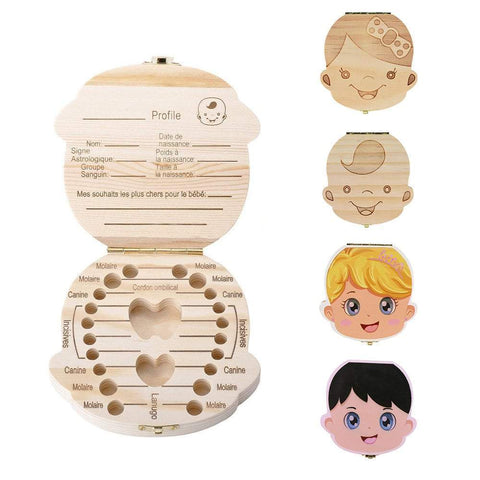 Toothy - Teeth Box Baby souvenir Male - Wood - Serene Parents