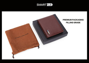 Smart Wallet Genuine Leather w/ Alarm & GPS