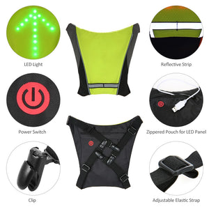 Cycling Turning Signal Reflective Vest