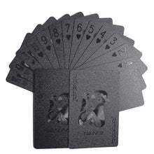 Load image into Gallery viewer, Waterproof Black Matte Plastic Poker Cards