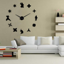 Load image into Gallery viewer, DIY Ninja Giant Wall Clock