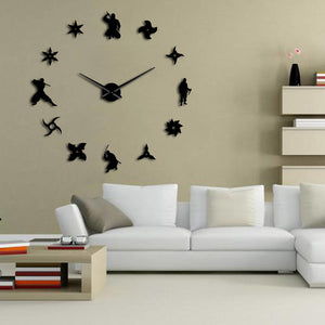 DIY Ninja Giant Wall Clock