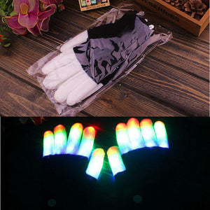 7 Mode LED Flashing Rave Gloves