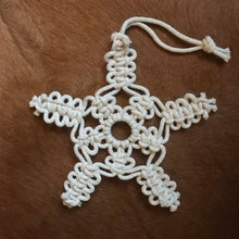 Load image into Gallery viewer, Snowflake Macrame Ornaments