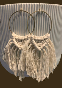Stevie Macramé Fan Earrings