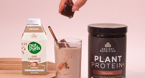 Plant-Based Mocha Cold Brew Coffee (with nutpods and Plant Protein+)