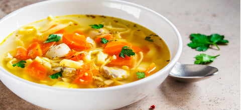 Bone Broth Protein Chicken Noodle Soup Recipe