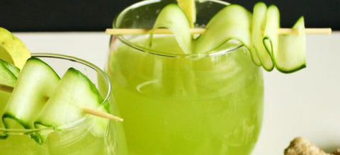 Cucumber Lime Collagen Mocktail Recipe