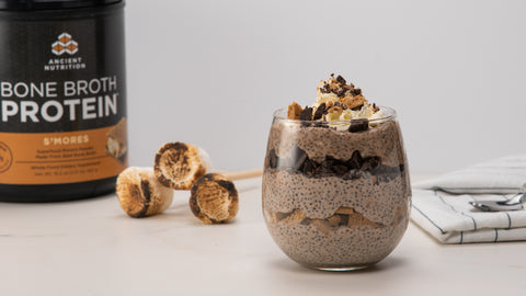 Chia Pudding with Bone Broth Protein S'mores