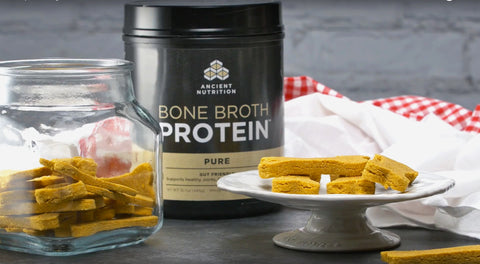 Pumpkin Dog Treats with Bone Broth Protein