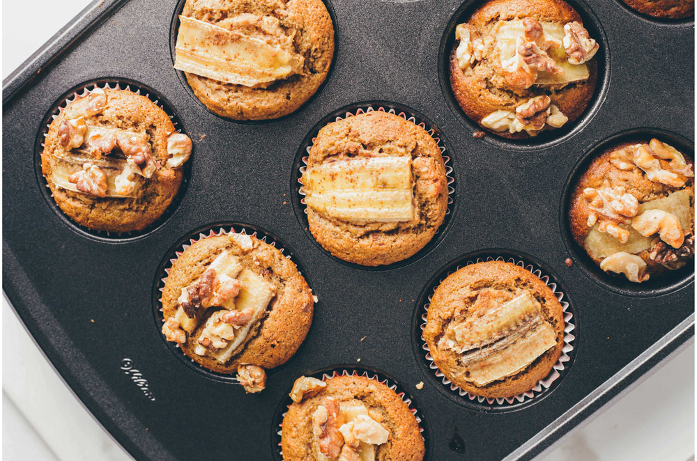 Banana Nut Muffins with Multi Collagen Protein