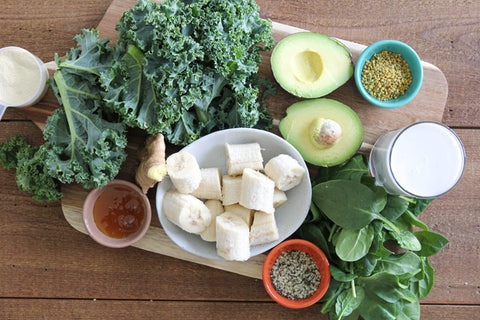 Gut supporting green smoothie recipe ingredients