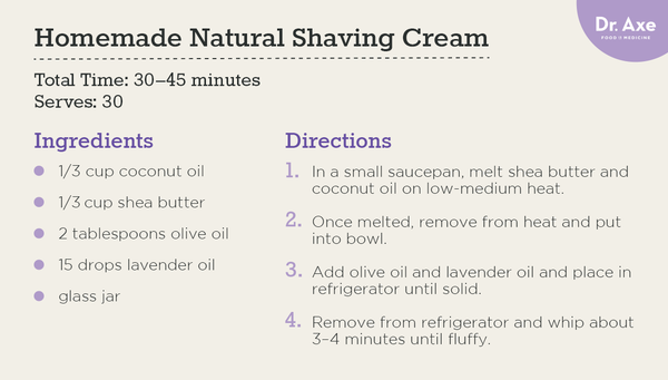 Homemade natural shaving cream - Dr. Axe