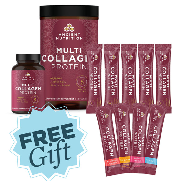 Collagen Starter Kit + Flavor Sampler Stick Pack