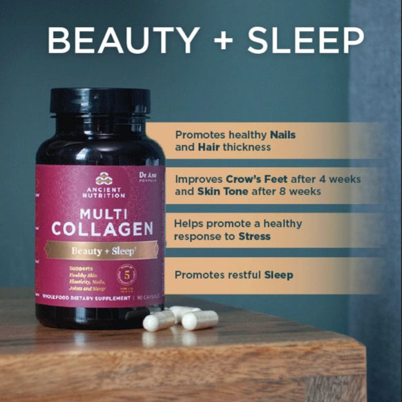 Multi Collagen Capsules - Beauty + Sleep, 90 Count